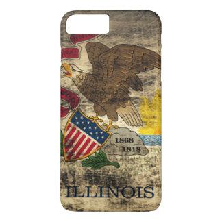 Vintage Grunge State Flag of Illinois iPhone 7 Plus Case