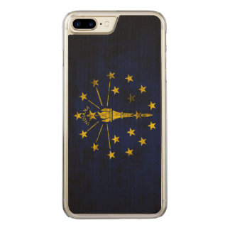 Vintage Grunge State Flag of Indiana Carved iPhone 7 Plus Case