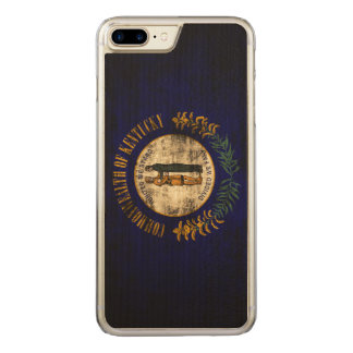 Vintage Grunge State Flag of Kentucky Carved iPhone 8 Plus/7 Plus Case