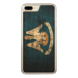 Vintage Grunge State Flag of Louisiana Carved iPhone 7 Plus Case