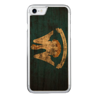 Vintage Grunge State Flag of Louisiana Carved iPhone 8/7 Case