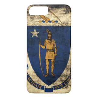 Vintage Grunge State Flag of Massachusetts iPhone 7 Plus Case