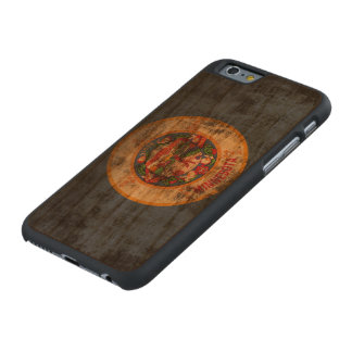 Vintage Grunge State Flag of Minnesota Carved® Cherry iPhone 6 Slim Case