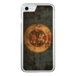 Vintage Grunge State Flag of Minnesota Carved iPhone 7 Case