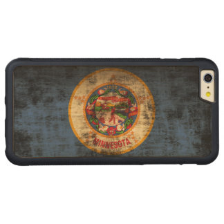 Vintage Grunge State Flag of Minnesota Carved® Maple iPhone 6 Plus Bumper Case