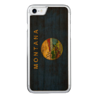 Vintage Grunge State Flag of Montana Carved iPhone 8/7 Case