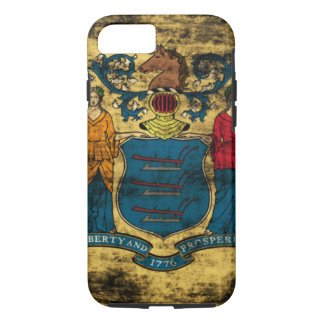 Vintage Grunge State Flag of New Jersey iPhone 7 Case