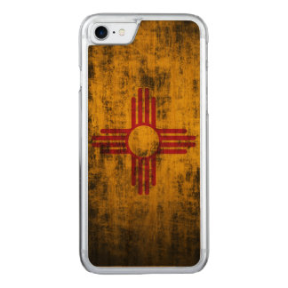 Vintage Grunge State Flag of New Mexico Carved iPhone 8/7 Case
