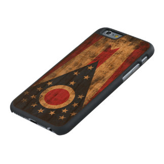 Vintage Grunge State Flag of Ohio Carved Cherry iPhone 6 Case