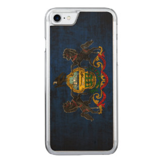 Vintage Grunge State Flag of Pennsylvania Carved iPhone 8/7 Case