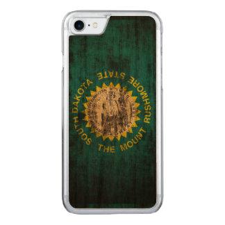 Vintage Grunge State Flag of South Dakota Carved iPhone 8/7 Case