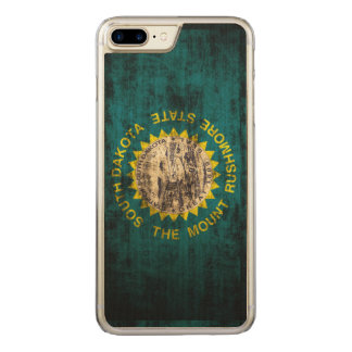 Vintage Grunge State Flag of South Dakota Carved iPhone 8 Plus/7 Plus Case