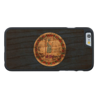 Vintage Grunge State Flag of Virginia Carved Cherry iPhone 6 Case