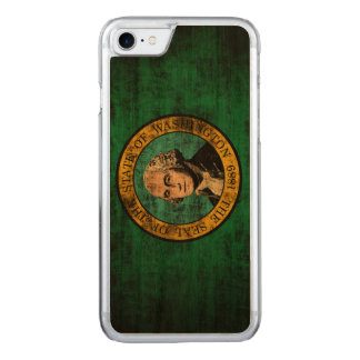 Vintage Grunge State Flag of Washington Carved iPhone 7 Case