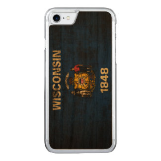 Vintage Grunge State Flag of Wisconsin Carved iPhone 7 Case