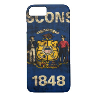 Vintage Grunge State Flag of Wisconsin iPhone 7 Case