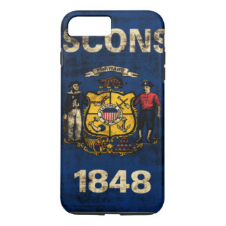 Vintage Grunge State Flag of Wisconsin iPhone 7 Plus Case