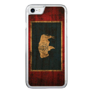 Vintage Grunge State Flag of Wyoming Carved iPhone 7 Case