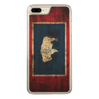 Vintage Grunge State Flag of Wyoming Carved iPhone 7 Plus Case