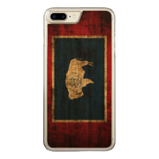 Vintage Grunge State Flag of Wyoming Carved iPhone 8 Plus/7 Plus Case