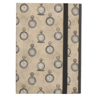 Vintage Grunge Steampunk Pocketwatch Pattern Cover For iPad Air