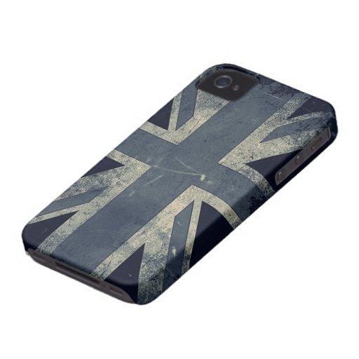 Vintage Grunge UK Flag iPhone 4 Cases