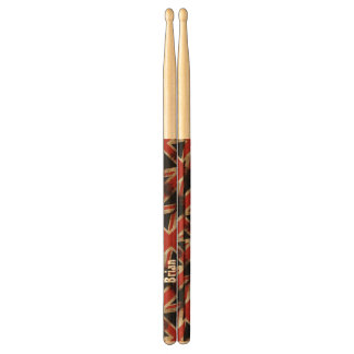 Vintage Grunge UK Flag Personalized Drumsticks