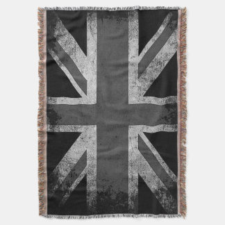 Vintage Grunge UK Flag Throw Blanket