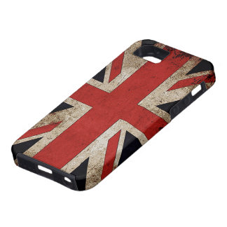 Vintage Grunge UK Flag Tough iPhone 5 Case