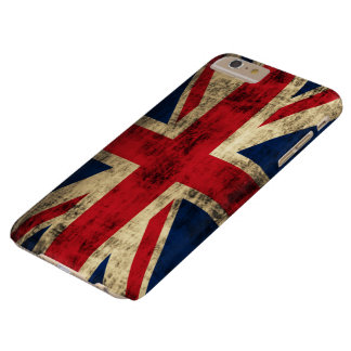 Vintage Grunge Union Jack Flag Barely There iPhone 6 Plus Case