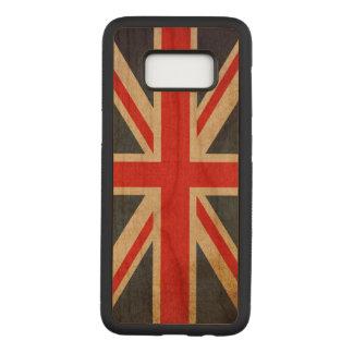 Vintage Grunge Union Jack UK FLAG Carved Samsung Galaxy S8 Case