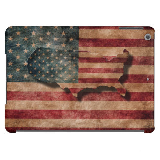 Vintage Grunge USA Stars & Stripes Flag and Map iPad Air Cases