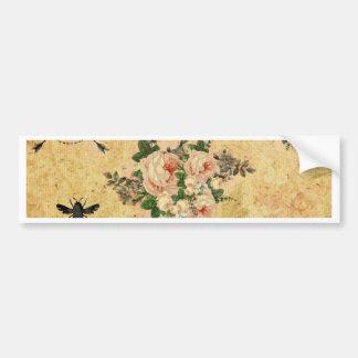 Vintage,grunge,victorian,french,floral,romantic Bumper Sticker
