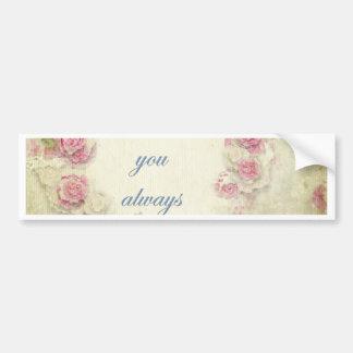 Vintage, grunge, victorian,shabby chic,floral,love bumper sticker
