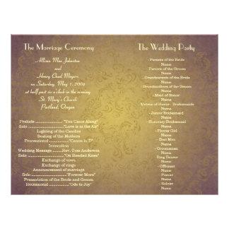 Vintage Grunge Wedding Program Flyer