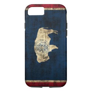 Vintage Grunge Wyoming State Flag iPhone 7 Case