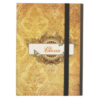 Vintage Grungy Personalized Damask iPad Air Case