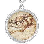 Vintage Guardian Angel Necklace