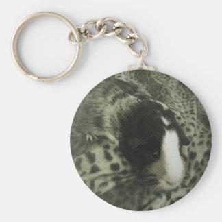 Vintage guinea pig photograph key chains