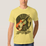 Vintage Guitar and Microphone Design T Shirts