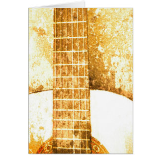 Vintage Guitar Birthday Card