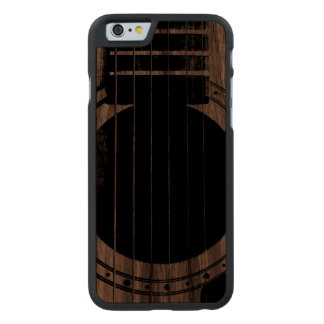 Vintage Guitar Carved Walnut iPhone 6 Case