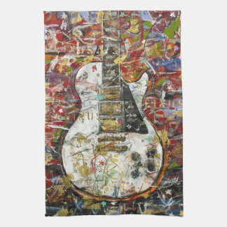 Vintage guitar - tea towels