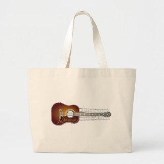 Vintage Guitar with Sheet Music  - Bag