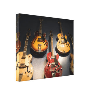 Vintage Guitars Canvas Print