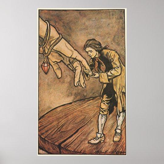 Vintage Gulliver's Travels by Arthur Rackham Poster