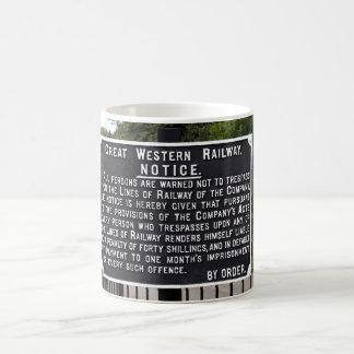 Vintage GWR Notice Mug