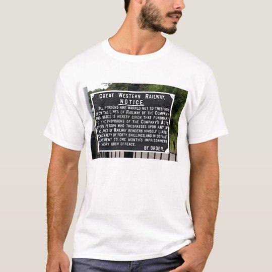 Vintage GWR Notice T-Shirt