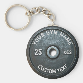 Vintage Gym Owner or User Fitness Funny Basic Round Button Key Ring