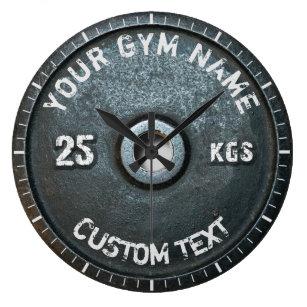 Vintage Gym Owner or User Fitness Funny Large Clock